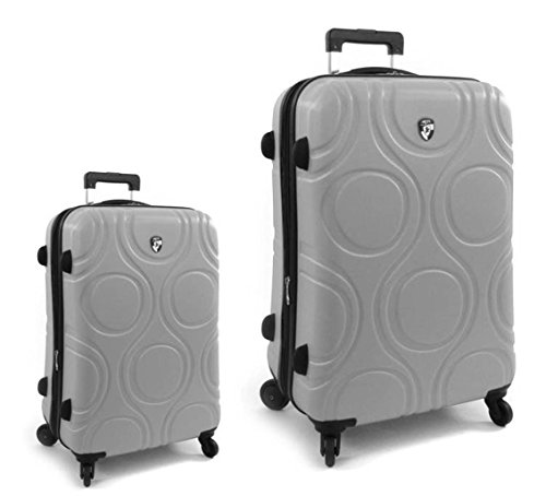 Kofferset, Gepäckset, Reisegepäck by Heys - Premium Designer Hartschalen Kofferset 2 TLG. - Core Eco Orbis Grau Koffer mit 4 Rollen Medium + Koffer mit 4...