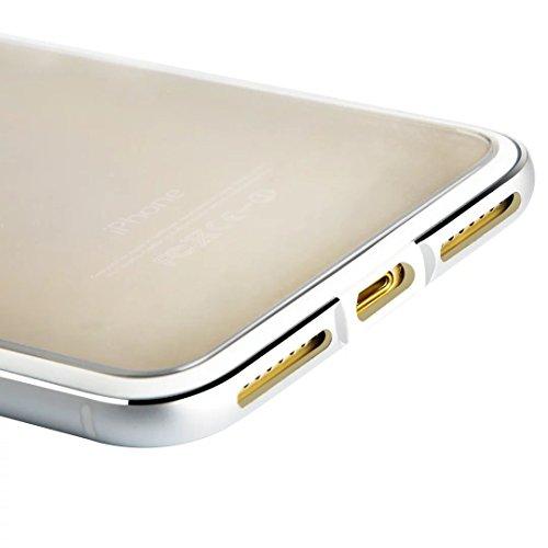 iPhone 6s Plus Hülle, iPhone 6 Plus Hülle, Vandot Dünnen Transparent Schutzhülle für iPhone 6s Plus / 6 Plus Case Cover mit Metall Bumper Ultra Thin Durchsichtig PC Plastik Hard Telefonkasten Abdeckun Bumper Silber