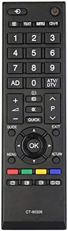 Allimity CT-90326 Remote Control fit for Toshiba LCD LED SMART TVs