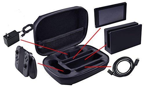 AmazonBasics – Funda de almacenamiento para Nintendo Switch,  color negro