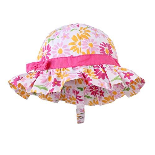 Domybest Cappello da Pescatore Bambino Estivo Stampa Floreale Cappellino Estivo da Spiaggia Neonata in Cotone Cappello da Sole Bambina