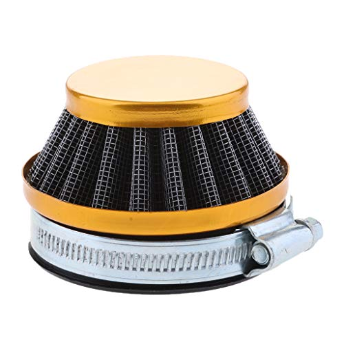 Motorisierte Roller (D DOLITY 1 Stück Luftfilter Universal Motorrad Ersatz Clamp-on Luftfilter 52mm für Motorisierte Fahrrad, Pocket Bike, Roller, Moped, Go-Kart)