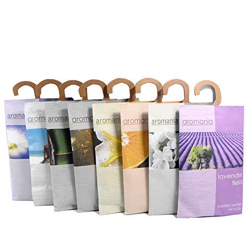 Yumsum 8 confezioni sacchetti profumati profumati per cassetti e armadi, 20 g/pacco