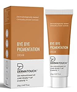 DERMATOUCH Bye Bye Pigmentation Cream for Pigmentation Removal Cream || Anti Pigmentation Cream for Women/Men with Lime Pearl & B-White - 20G