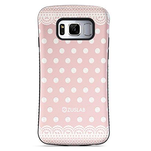 ZUSLAB Galaxy S8 Hülle, Punkt Mädchen Muster Schwerschutz Fallschutz Extrem Hoher Schutzhülle Weich Rand Robust Stoßfest handyhülle für Samsung Galaxy S8 [Face][Pinkdot]