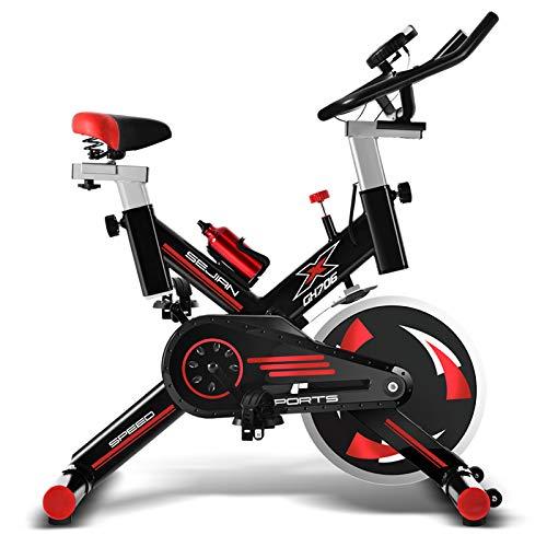 WBaRJ Indoor Cycling Bicycles Heimtrainer für Indoor-Sportgeräte mit extrem leiser, 250 kg schwingender Last,Black