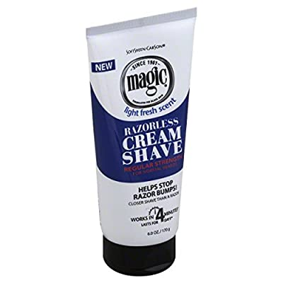 Magic Razorless Cream Shave Regular Strength Light Fresh Scent 6oz Tube from Ultra/Standard Distributors