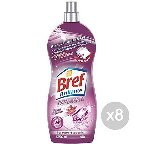 Set 8 BREF Étages Brillants Floral 1.250 Détergents Liquide Et Nettoyage De La Maison