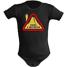 Body bebé unisex Bebé a Mordor (El señor de los anillos - parodia). Regalo original. Body bebé divertido.