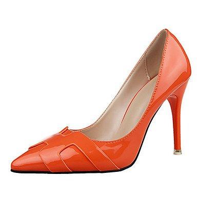 Moda Donna Sandali Sexy donna tacchi PU Casual Stiletto Heel altri nero / rosa / viola / rosso / argento / grigio chiaro / Beige / arancio altri Red