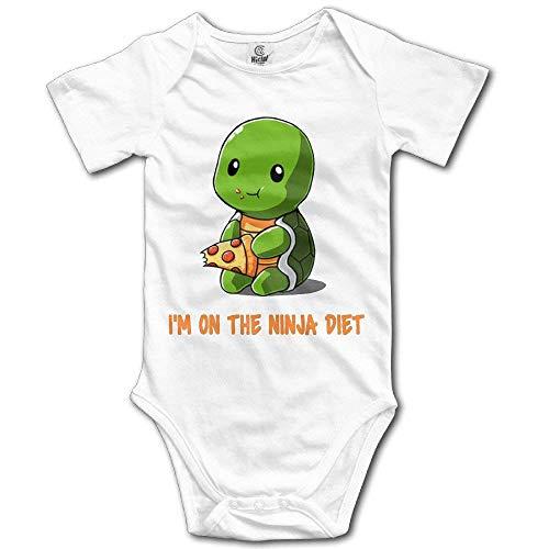 Ktmasa Unisex Turtles I'm on The Ninja Diet Baby Rompers Baby Onesie Short Slev