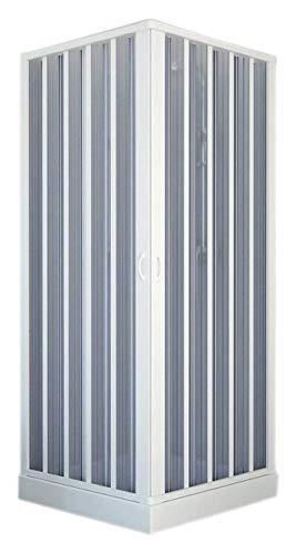 Forte BK100001 Duschkabine, weiß, 80 x 80 x 185 h