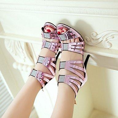 LvYuan sandali scarpe estive caduta del club primavera gladiatore partito materiali cinturino alla caviglia personalizzato&abito da sera Purple