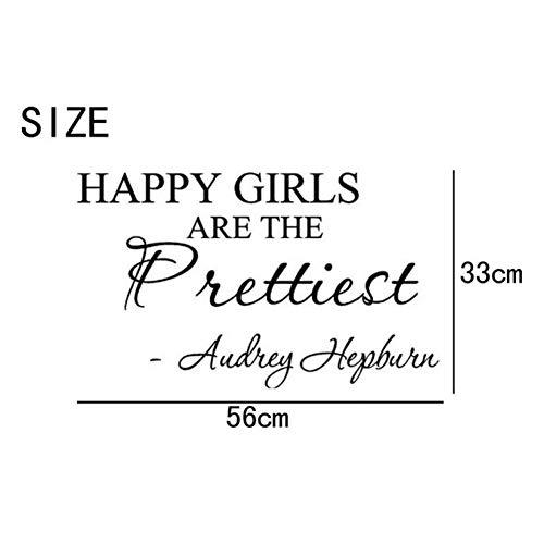 ädchen sind die schönsten Audrey Hepburn Art Vinyl Wandgemälde Haus Zimmer Dekor Wandaufkleber für Wohnzimmer Schlafzimmer Aufkleber Neu ()