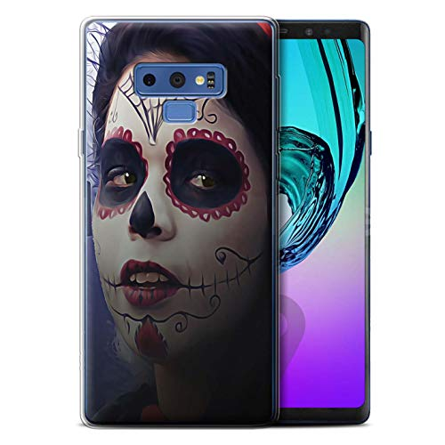 Stuff4® Gel TPU Hülle/Case für Samsung Galaxy Note 9/N960 / Halloween Bilden Muster/Tag Der Toten Festival Kollektion (Halloween Tag 9)