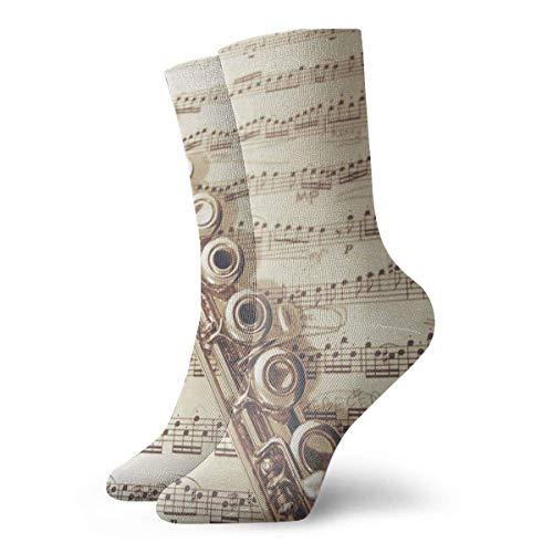 rful Flute Music Crew Socks Outdoor Socks for Unisex Mens Socks ()