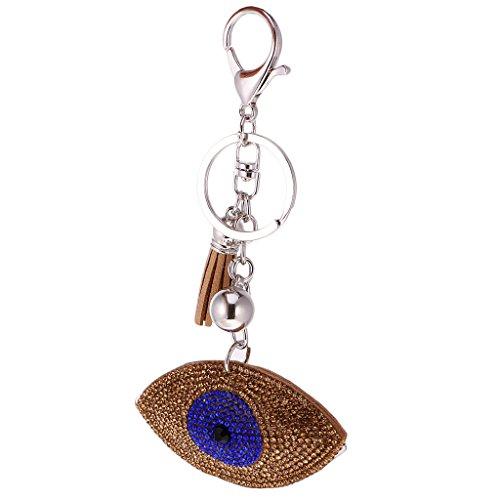 Baoblaze Tier Diamant Schlüsselanhänger Keychain Taschenanhänger Deko Anhänger - Augen-Braun