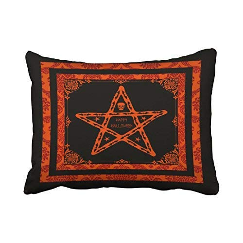 Miedhki Custom Halloween Gothic Home Decorator Pillow Covers Cushion Cover Case 20X30 Inches Pillowcases Two Side -