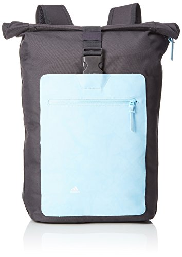 adidas Youth Pack Rucksack, Utility Black F16/Ice Blue F16/White, 54 x 12.5 x 27 cm, 18 Liter