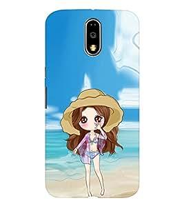 EPICCASE sexy doll Mobile Back Case Cover For MOTO E3 (Designer Case)