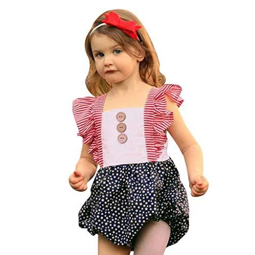 squarex Sommer Kind Baby Mädchen Kind Backless Jumpsuit Star Print Strampler Bodysuit Kinder ärmellose Outfits Casual Strampler bequem