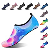 Mabove Chaussures Aquatique pour Femme et Homme Chaussures d'eau Chaussures de Plage de Yoga de Surf de Nager Sport Aquatique Chaussettes de Plongée pour Piscine et Plage(Rose.Ballon,46/47 EU)