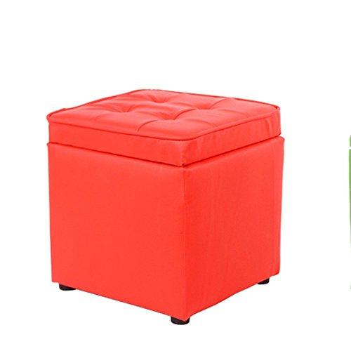 DIDIDD Sofa Hocker- kleiner Hocker Massivholz Wohnzimmer Hocker Wechsel Schuh Hocker einfach kreativ Sofa Hocker Lagerhocker (rot) (28 * 30cm) --Storage (Sattel Schuhe Frauen)