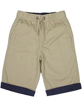 Bienzoe Jungen Baumwolle Köper Elastisch Taille Short