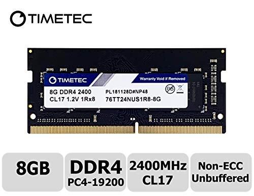 Timetec Hynix IC 8 GB DDR4 SODIMM für Intel NUC KIT Produkte 2400 MHz PC4-19200 Non-ECC Unbuffered 1,2 V CL17 1Rx8 Single Rank 260 Pin Laptop Notebook Computer RAM Module Upgrade 8 GB
