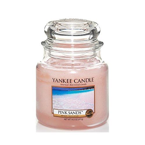 Yankee Candle Glaskerze, mittel, Pink Sands