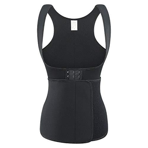BARGOOS Damen Sauna-Anzüge Heißer Schweiß Neopren Sport Weste Body Shaper Korsett Shirt Taillenformer Fitness Taillen mieder für Gewichts reduzierung - Reduzierung-anzug