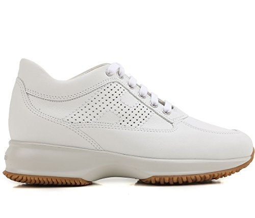 Hogan Scarpe Donna Sneakers Basse HXW00N00E30KLAB001 Interactive Taglia 38  Bianc fbacb1a14c8