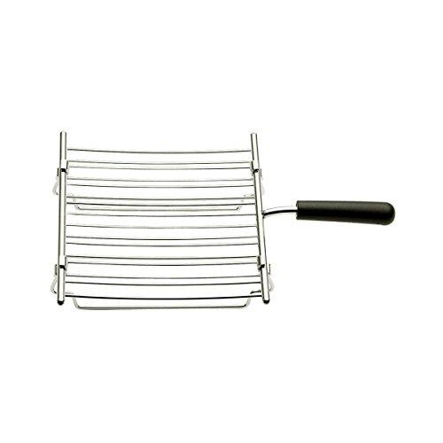 Dualit Brötchenaufsatz für 28mm, silber schwarz hitzebeständig spülmaschinenfest