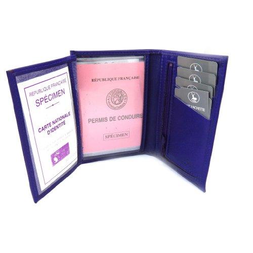 Frandi [K4013] - Portefeuille Cuir 'Frandi' violet