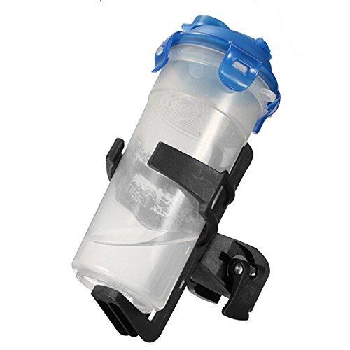 foopp Bike Wasser Flasche Halter Clip Fahrrad Krug Käfig verstellbar Rack (schwarz) (Clip-wasser-flasche)