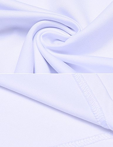 Chigant Damen Langarmshirt Basic Fit Bluse Top Oberteil V Ausschnitt Lang Ärmel mit Spitze Slim T Shirt Pullover Weiß