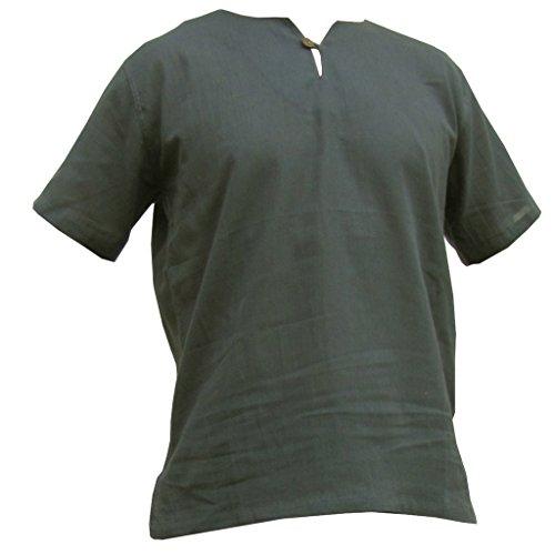 PANASIAM Sommer Hosen und Hemden Aus wohlig Weicher, 100% Reiner Naturbaumwolle Shirt in grau