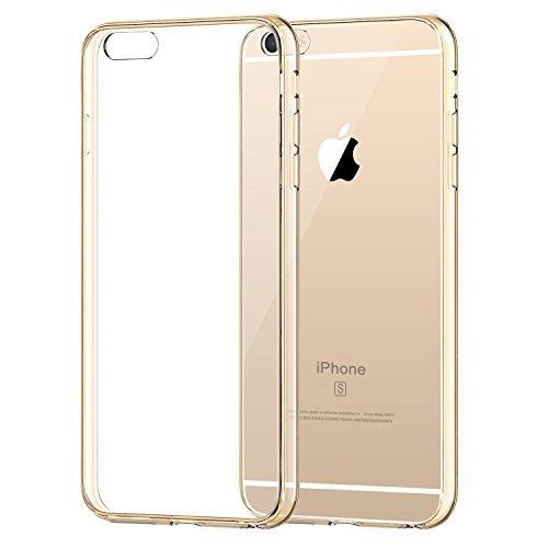JETech Hülle für Apple iPhone 6s Plus iPhone 6 Plus, Schutzhülle mit Anti-kratzt Transparente und Rückseite, - Gold 6 Iphone Plus