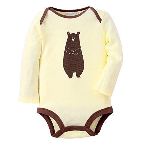 Sanlutoz Mädchen Langarm Body Baumwolle Wickelbody Strampelhöschen (12-18 Monate, R01 BEIGE (Vintage Kostüme Baumwolle)