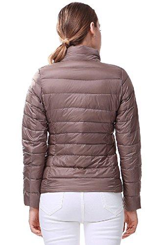 INFLATION Damen Daunenjacke mit Stehkragen Ultra Leicht Übergangsjacke Winterjacke Packbar Daunenmantel 17 Farben XXS-XL Khaki