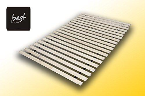 Best For You Rollrost aus 15 oder 20 massiven stabilen Holzlatten Geeignet für alle Matratzen - in viele Größen 60x120 cm - 140x200 cm (90x200-15 Latten)