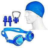 Egab 4 in 1 Combo Swimming Kit for Goggle Cap Nose Plug