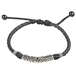 Ancient Tribe – cavigliera in pelle, regolabile, fatta a mano
