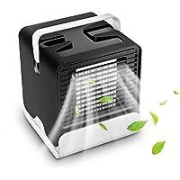 LLDKA Mini refrigerador de Aire, Ventilador de Mesa para Interiores 4 in1 del Aire Acondicionado móvil del refrigerador de Aire, frío y silencioso del Aire del Ventilador,Negro