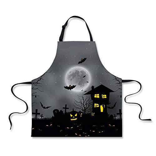 Halloween Friedhof Zaun - spArt Halloween-Schürze, Das Böse Jack-O'-Laterne