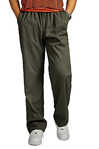 Vintage Casual pantalon homme Looser plus taille pantalon coton salopette army green XL