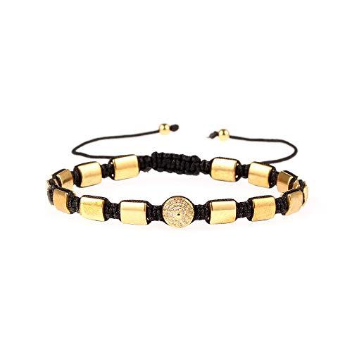 wangzz Armband Aus Europäischem Und Amerikanischem Gewebe Nietgewebe Aus Vergoldetem, Diamantbesetztem Goldzug, Gold Knochen-gewebe