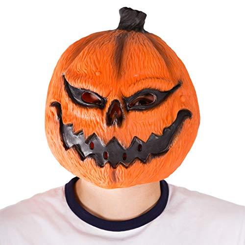 Bodysocks - Latex Gummi Tier Halloween Kostüm Maske (Kürbis) (Pumpkin Adult Kostüm)