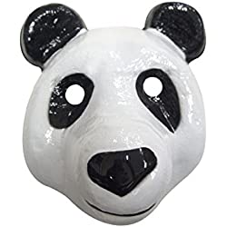 Máscara de plástico, diseño de oso panda
