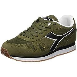Diadora Simple Run, Zapatillas de Gimnasia para Hombre, (Verde Oliva Bruciato 70431), 44 EU